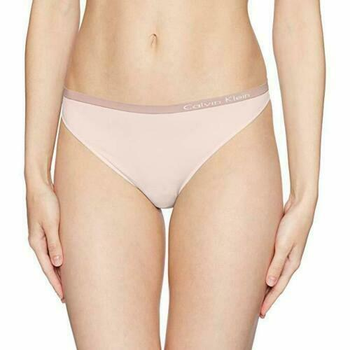 Calvin Klein Shoreline Blue Pure Seamless Thong Panties Underwear QD3544-680 NWT