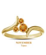 Orange Topaz November Birthstone 925 Silver Yellow Gold Plated Mickey Mo... - $25.99