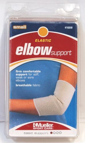 Mueller 416SM Elastic Elbow Support Size Small Color White