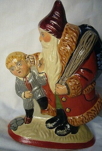 Vaillancourt Folk Art, Santa Caught the Rascal,Personally signed by Judi!