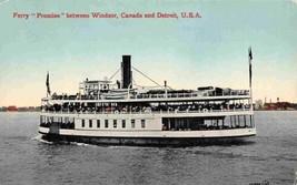 Ferry Steamer Windsor Canada Detroit Michigan 1910c postcard - $6.93