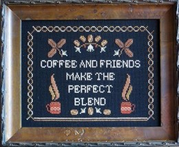 The Perfect Blend coffee cross stitch chart Stitches Through Time  - $10.80