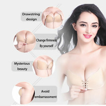 Silicone Push-Up Backless Strapless Self Adhesive Gel Magic Stick Invisible Bra image 2