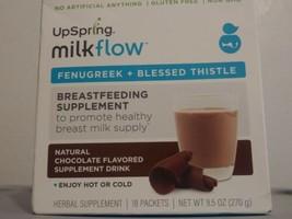 Upspring Milkflow Chocolate Flavored Breastfeeding Supplement drink X 18... - $12.87