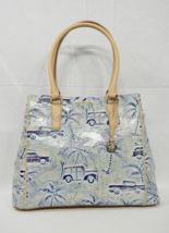 NWT Brahmin Joan Leather Tote /Shoulder Bag in Sky Copa Cabana Palm Tree... - $329.00