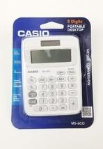 Casio 8 Digit Mini Desktop Calculator White Small Compact Metric Conversion - $12.56