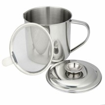 WISH Bacon Grease Container Stainless Steel Cooking Oil Container Grease... - $14.63