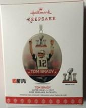 Hallmark Keepsake Tom Brady Super Bowl LI MVP N E Patriots Christmas Orn... - $25.41