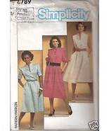 Simplicity 6789 Misses' Pullover Dress Size 10 - $1.75