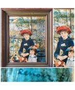 """Renoir Two Sisters On The Terrace 1881 Framed Art Print. 26 1/1"""" H X 22 1/2"""" W - $125.00"""