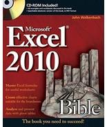 Excel 2010 Bible [Paperback] [May 10, 2010] Walkenbach, John - $10.95