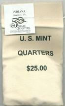 2002-P State Quarter - INDIANA - $25 MINT SEWN BAG - $41.95