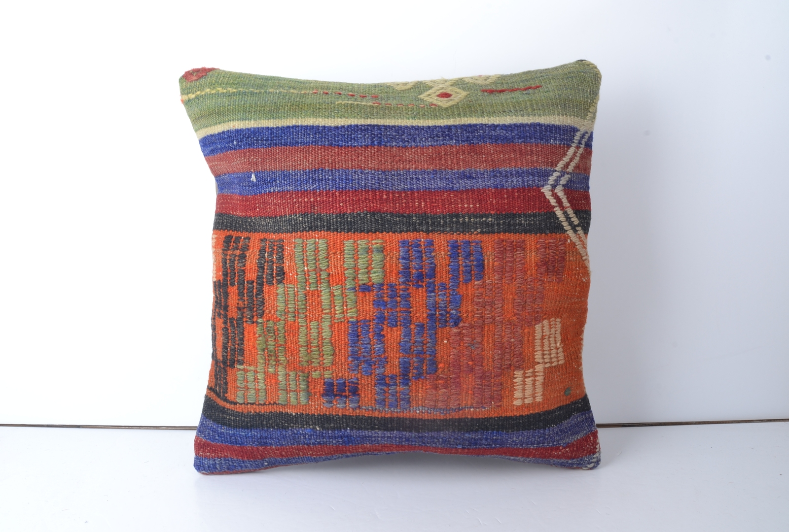 Eclectic Couch Pillows : 16 Kilim Rug Decorative Pillow Rustic throw pillow cover eclectic kilim pillow - Pillows