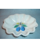 Westmoreland Fruit Grapes pattern Beaded Edge Oval Bowl or Soap Dish - $12.99