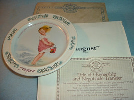 1984 Newell Pottery August by Sarah Stilwell Weber Calendar Collection P... - $12.99