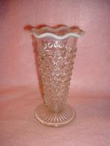 Hocking Moonstone Opalescent Hobnail Tall Vase - $12.99