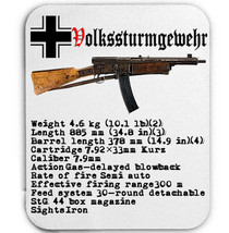 Volkssturmgewehr 1-5 GERMANY WWII  - MOUSE MAT/PAD AMAZING DESIGN - $13.95