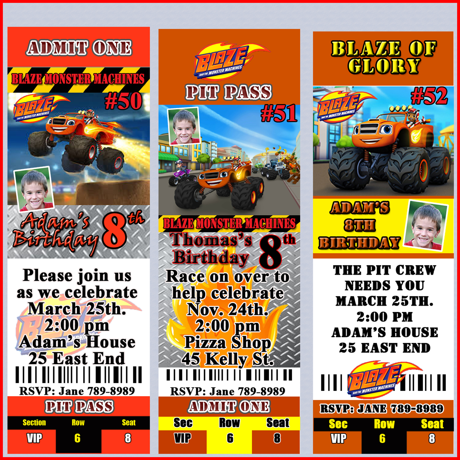 Blaze And The Monster Machines Birthday 50 Similar Items