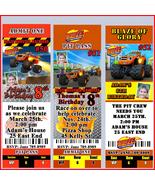 Blaze and the Monster Machines Birthday Invitations U Print Personalized - $8.50