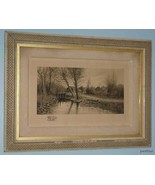 RARE SIGNED Sawmill Country Scene Picture D F H... - $886.05