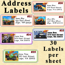 Blaze and the Monster Machines Birthday Address Labels 1 Sheet Personalized - $5.75