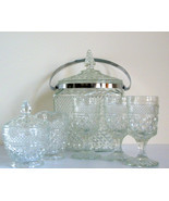 Glass Icebucket and  Creamer Set Eight pieces ... - $65.00