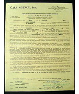 SARAH VAUGHAN ORIGINAL AUTOGRAPHED 1955 APOLLO CONTRACT - $346.50