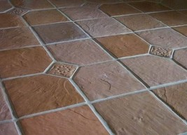 6+1 FREE SLATE TILE MOULDS 12x12 TO CRAFT 100s OF CEMENT FLOOR WALL TILES .30 EA image 2