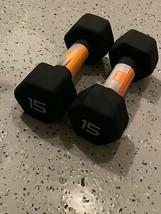 (2) 15lb Neoprene Dumbbell Set CAP HEX -  30lbs Total Weight - BRAND NEW - $84.95