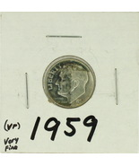 1959 United States Roosevelt Dime 90% Silver Rating : (VF)  Very Fine - €1,11 EUR