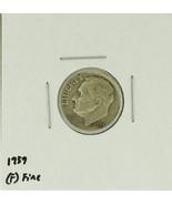 1959 United States Roosevelt Dime 90% Silver Rating : (F)  Fine - $23,69 MXN