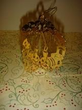 Danbury Mint Gold-Plated 1981 Filigree Train Ornament - $18.99