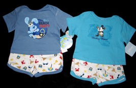 BOYS 6-9 MONTHS Disney Mickey Mouse Aloha & Blues Clues Beach Party TWO ... - $8.99