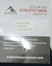 Augusta Sportswear Style 6027 Athletic Sock Youth 7 To 9 Navy Blue image 4
