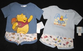 BOYS 6-9 MONTHS Disney Backpacking Pooh & Pooh Let's Go for a Ride TWO P... - $8.99