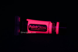 Paint Glow 10ml/.34oz Glow in the Dark Face and Body Paint- Pink - $6.50