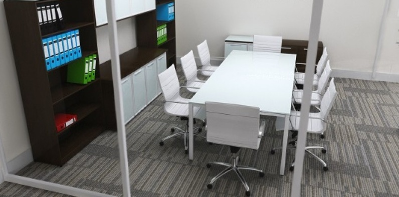 Chiarezza Sling Conference Table White And Similar Items - Frosted glass conference room table
