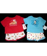 BOYS 3-6 MONTHS  Disney Mickey Mouse Aloha & Disney Pixar Cars Red TWO P... - $8.99