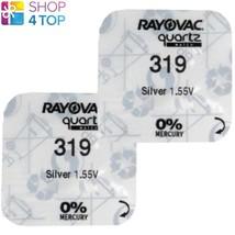 2 RAYOVAC 319 SR527SW BATTERIES SILVER OXIDE 1.55V WATCH BATTERY EXP 202... - $2.57