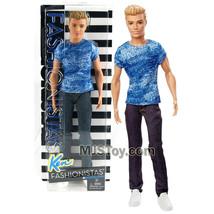 "Yr 2015 Barbie Fashionistas 12"" Doll KEN in Blue Dashing Denim Tee & Den... - $34.99"