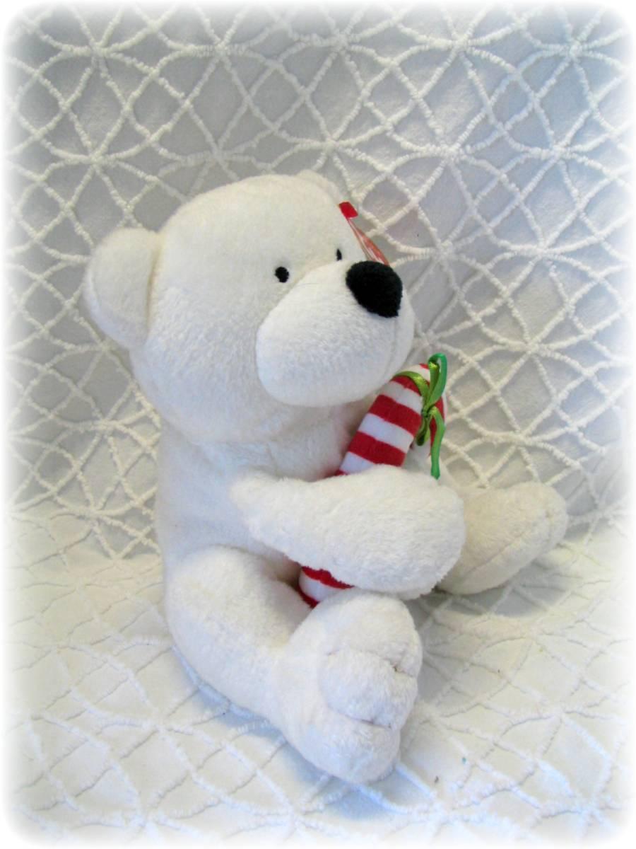 White Polar Bear Beanie Baby - Parchment N Lead 3d7f24572ff4