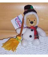"""Disney Winnie Pooh 8"""" Snowman with Scarf-Hat-& Snowflake Sweep Broom - $5.99"""