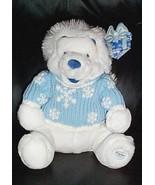 Winnie Pooh Bear Winter White in Blue Glittery Snowflake Sweater Disney ... - $8.79