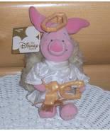 "Winnie Pooh Piglet Choir Angel with Golden Harp & Halo 8"" Plush Disney - $5.79"