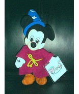 """Disney Mickey Mouse Plush 9"""" Fantasia Sorcerer Wizard in Robe & Accented... - $6.29"""