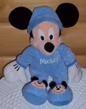"Disney Mouse Plush Baby Blue Jammies Mickey 16""... - $11.99"