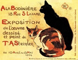 1894 Steinlen Art Nouveau Print Art Exhibit Cat... - $5.99