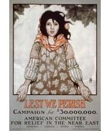 WWI SYRIA GREECE ARMENIA FUND RAISING EFFORT POSTER AMERICAN RELIEF PRINT 1294 - $5.99
