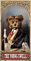 VINTAGE 1869 YORKSHIRE TERRIER DRINKING PARTY B... - $5.99