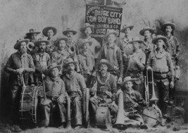 OLD WEST DODGE CITY COWBOY BRASS BAND 11x17 PHO... - $5.99